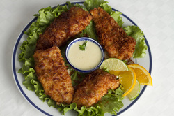 Coconut Crusted Fish with Key Lime Sauce