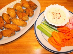 Touchdown Wings With Ranch Dressing