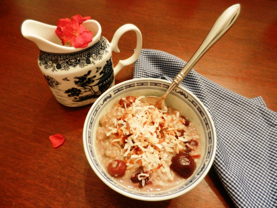 Easy as Cherry Pie Oatmeal – a family favorite breakfast treat!