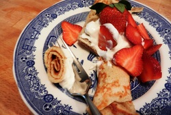 Healthy Whole Grain Crepes with Coconut Oil