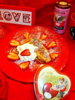 valentine gift, breakfast in bed