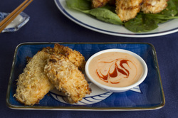 Panko Crusted Fish Bites with Dill-icious Dipping Sauce