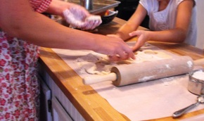 dough biscuits rolling pin cooking with kids playdough