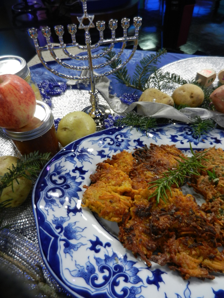 Happy Hanukkah- Sweet Potato Latkes