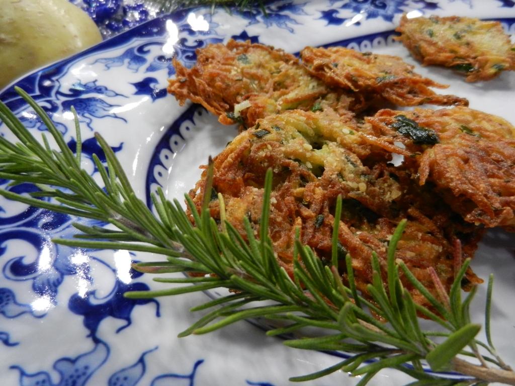 Rosemary and Garlic Chive Latkes