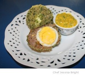 My version of Scotch eggs, baked not fried!