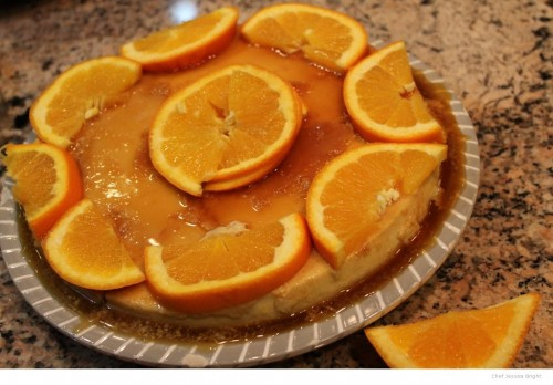 Orange Cream Flan