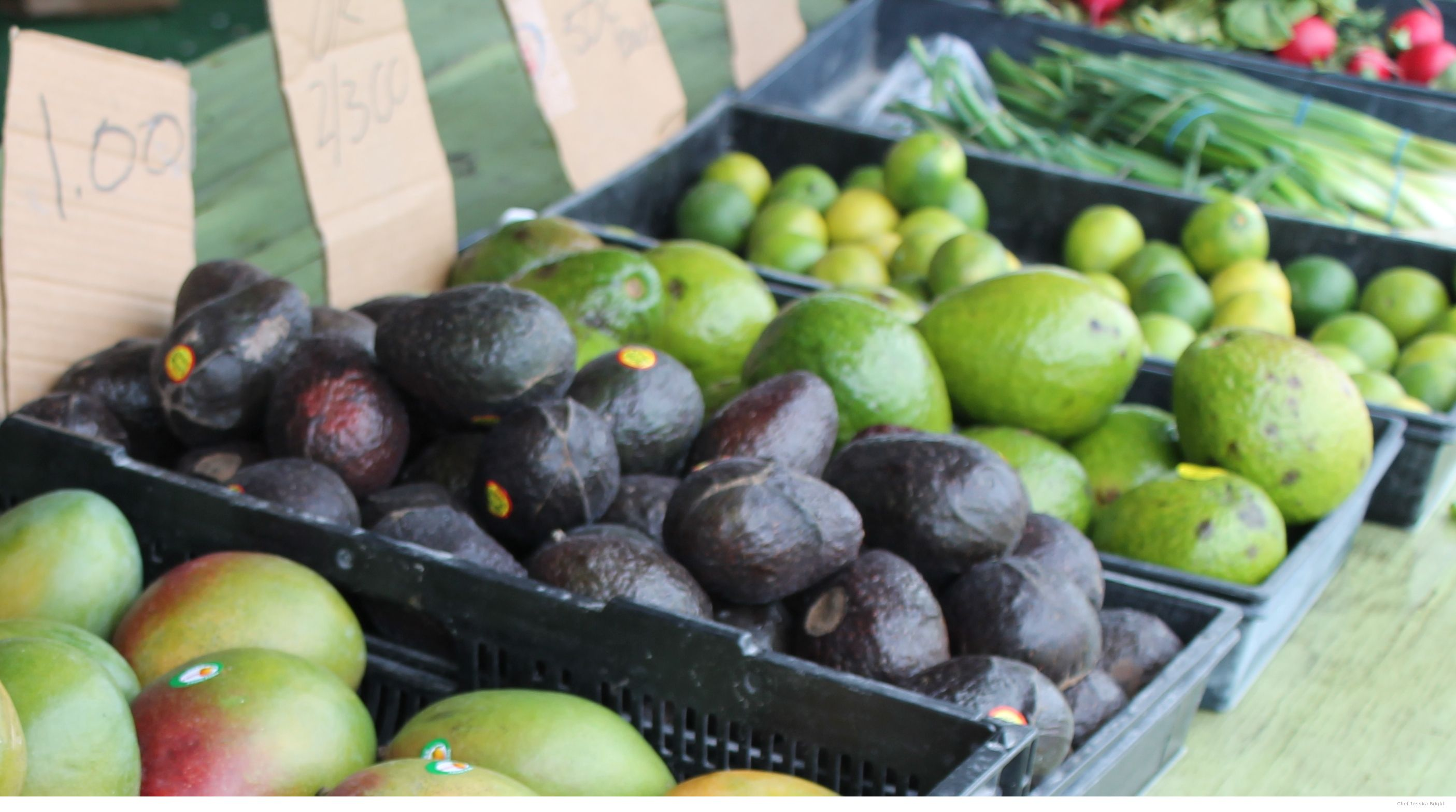 Mangos, Hass Avocados,   Slimcados and LImes at the Farmers Market