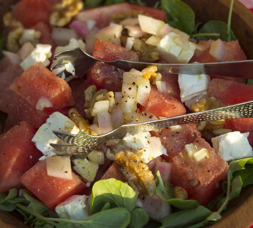 Watermelon and Watercress Salad with Feta