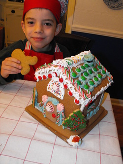 cookies, gingerbread, christmas, frosting, royal icing, house