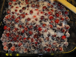 fresh cranberry sauce, baked cranberry sauce, easy cranberry