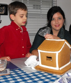 gingerbread house, christmas baking, cookies, frosting