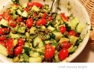 Cucumber-avo-mato Salad